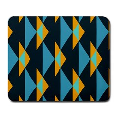 Yellow blue triangles pattern                                                        			Large Mousepad