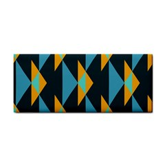 Yellow blue triangles pattern                                                        Hand Towel
