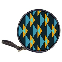 Yellow blue triangles pattern                                                        Classic 20-CD Wallet