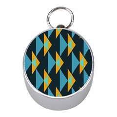 Yellow blue triangles pattern                                                        			Silver Compass (Mini)