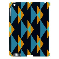 Yellow blue triangles pattern                                                       Apple iPad 3/4 Hardshell Case (Compatible with Smart Cover)