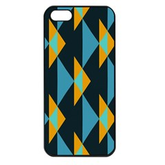 Yellow blue triangles pattern                                                       			Apple iPhone 5 Seamless Case (Black)
