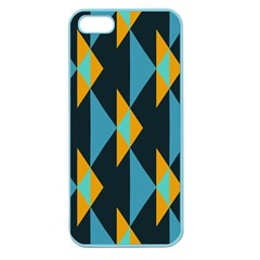 Yellow blue triangles pattern                                                       Apple Seamless iPhone 5 Case (Color)