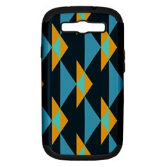 Yellow blue triangles pattern                                                       Samsung Galaxy S III Hardshell Case (PC+Silicone)