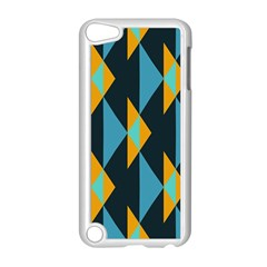 Yellow blue triangles pattern                                                       			Apple iPod Touch 5 Case (White)
