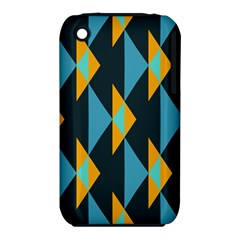 Yellow blue triangles pattern                                                       Apple iPhone 3G/3GS Hardshell Case (PC+Silicone)
