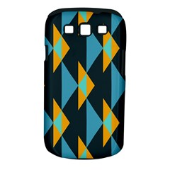 Yellow Blue Triangles Pattern                                                       			samsung Galaxy S Iii Classic Hardshell Case (pc+silicone)