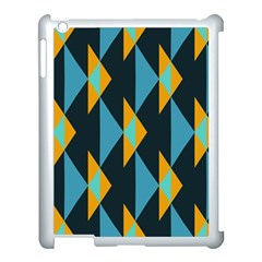 Yellow blue triangles pattern                                                       			Apple iPad 3/4 Case (White)