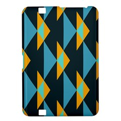 Yellow blue triangles pattern                                                       			Kindle Fire HD 8.9  Hardshell Case