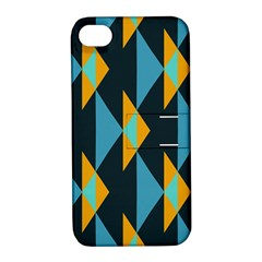 Yellow blue triangles pattern                                                       Apple iPhone 4/4S Hardshell Case with Stand