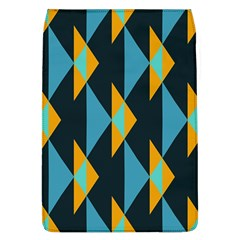 Yellow blue triangles pattern                                                       Removable Flap Cover (L)