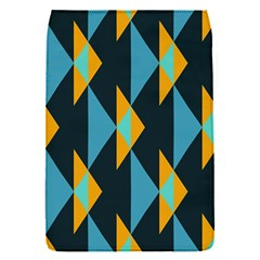 Yellow blue triangles pattern                                                       			Removable Flap Cover (S)