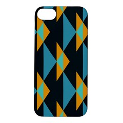 Yellow blue triangles pattern                                                       			Apple iPhone 5S Hardshell Case