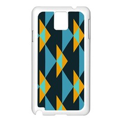 Yellow blue triangles pattern                                                       Samsung Galaxy Note 3 N9005 Case (White)
