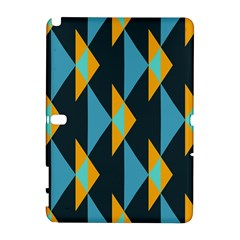 Yellow blue triangles pattern                                                       Samsung Galaxy Note 10.1 (P600) Hardshell Case