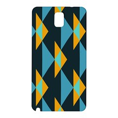 Yellow blue triangles pattern                                                       Samsung Galaxy Note 3 N9005 Hardshell Back Case