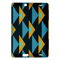 Yellow blue triangles pattern                                                       			Kindle Fire HD (2013) Hardshell Case