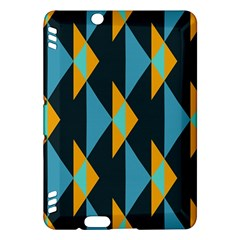 Yellow blue triangles pattern                                                       			Kindle Fire HDX Hardshell Case