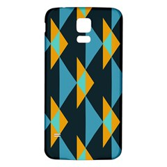 Yellow blue triangles pattern                                                       Samsung Galaxy S5 Back Case (White)