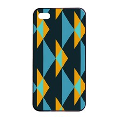 Yellow blue triangles pattern                                                       			Apple iPhone 4/4s Seamless Case (Black)