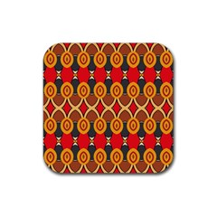 Ovals pattern                                                         			Rubber Square Coaster (4 pack