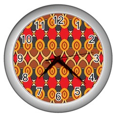 Ovals pattern                                                         			Wall Clock (Silver)