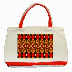 Ovals pattern                                                         			Classic Tote Bag (Red)