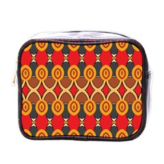 Ovals pattern                                                         			Mini Toiletries Bag (One Side)