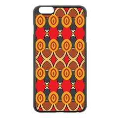 Ovals pattern                                                        			Apple iPhone 6 Plus/6S Plus Black Enamel Case