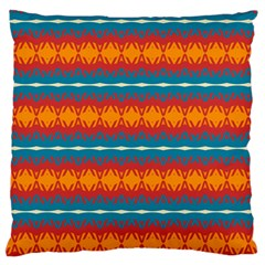 Shapes Rows                                                          large Flano Cushion Case (two Sides)