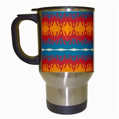 Shapes rows                                                          Travel Mug (White)