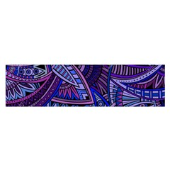 Abstract electric blue hippie vector  Satin Scarf (Oblong)