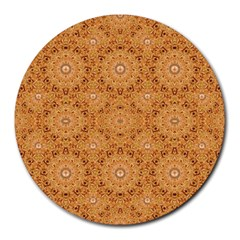 Intricate Modern Baroque Seamless Pattern Round Mousepads
