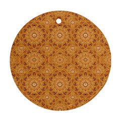 Intricate Modern Baroque Seamless Pattern Ornament (Round)