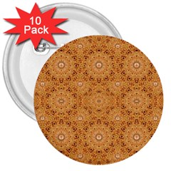 Intricate Modern Baroque Seamless Pattern 3  Buttons (10 pack)