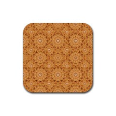 Intricate Modern Baroque Seamless Pattern Rubber Square Coaster (4 pack)