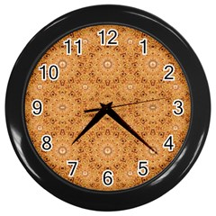 Intricate Modern Baroque Seamless Pattern Wall Clocks (Black)