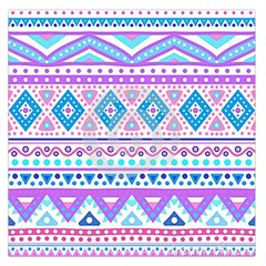 Tribal pastel hipster  Large Satin Scarf (Square)