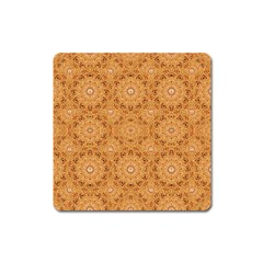 Intricate Modern Baroque Seamless Pattern Square Magnet