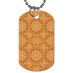Intricate Modern Baroque Seamless Pattern Dog Tag (Two Sides)