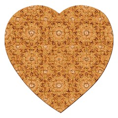 Intricate Modern Baroque Seamless Pattern Jigsaw Puzzle (Heart)