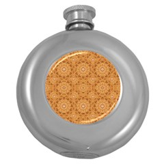 Intricate Modern Baroque Seamless Pattern Round Hip Flask (5 oz)