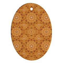 Intricate Modern Baroque Seamless Pattern Oval Ornament (Two Sides)