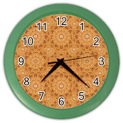 Intricate Modern Baroque Seamless Pattern Color Wall Clocks