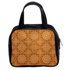 Intricate Modern Baroque Seamless Pattern Classic Handbags (2 Sides)