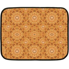 Intricate Modern Baroque Seamless Pattern Fleece Blanket (Mini)