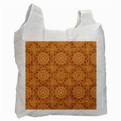 Intricate Modern Baroque Seamless Pattern Recycle Bag (Two Side)