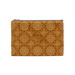 Intricate Modern Baroque Seamless Pattern Cosmetic Bag (Medium)