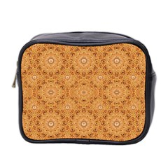 Intricate Modern Baroque Seamless Pattern Mini Toiletries Bag 2-Side