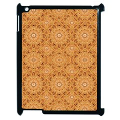 Intricate Modern Baroque Seamless Pattern Apple iPad 2 Case (Black)